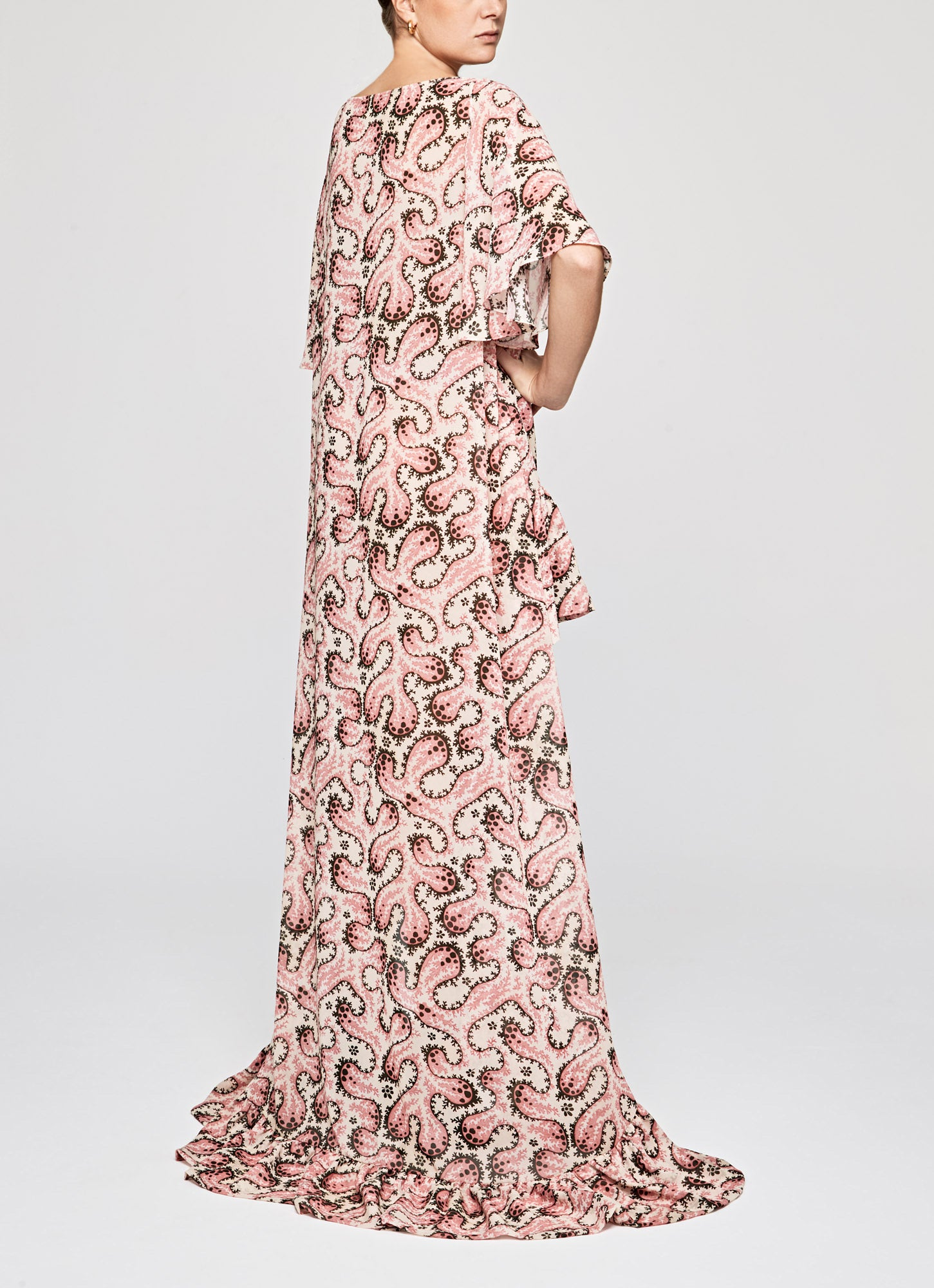 Frilled Floor Length Kaftan