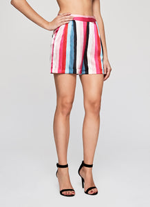 Extra Stripes Silk Satin Printed Shorts