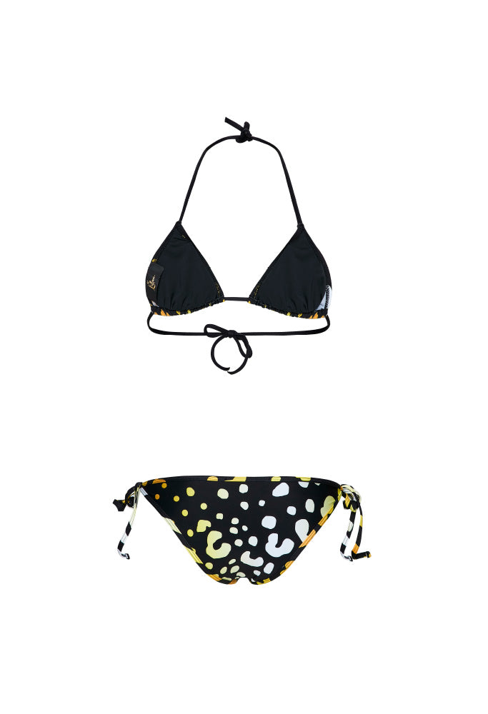 ORIGINAL YELLOW LEOPARD Triangle Bikini