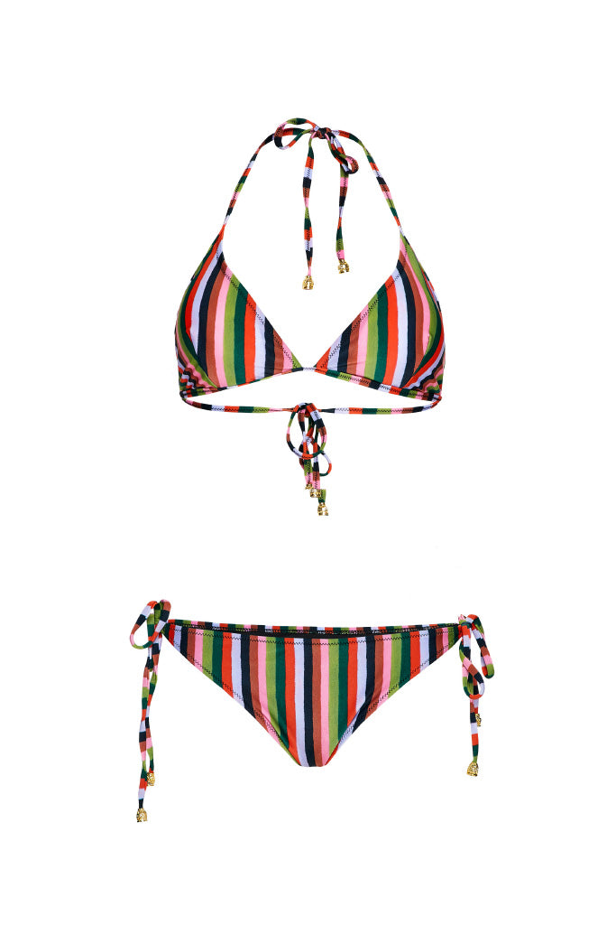 DARK STRIPES Triangle bikini