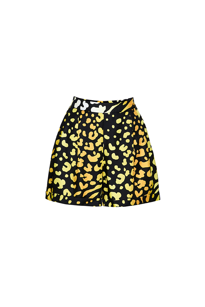 ORIGINAL YELLOW LEOPARD Tailored Shorts