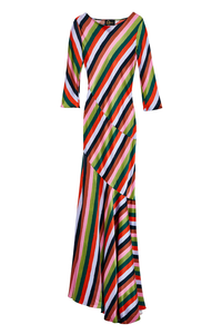 Drop to the Floor Stripe Gown