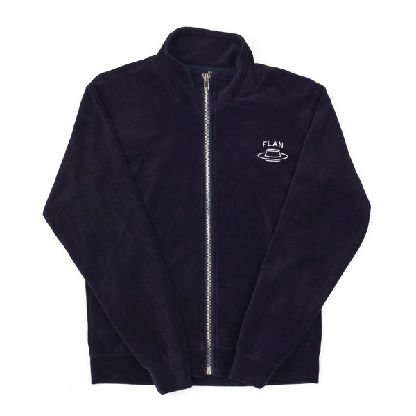 FLAN Velour Jacket - Navy