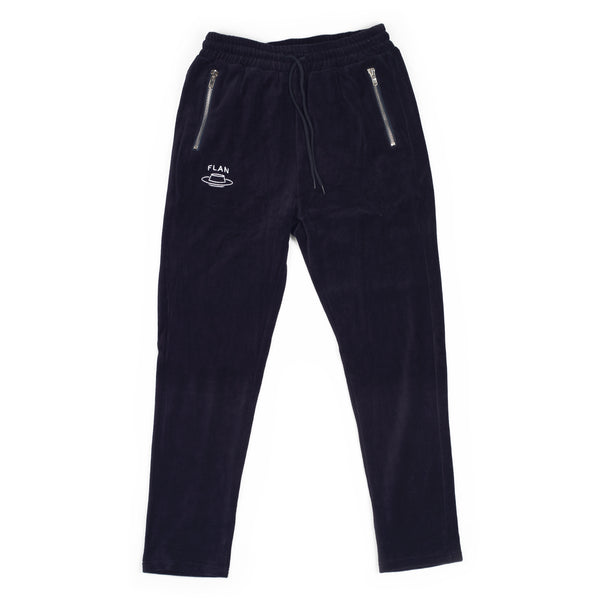FLAN Velour Pants - Navy
