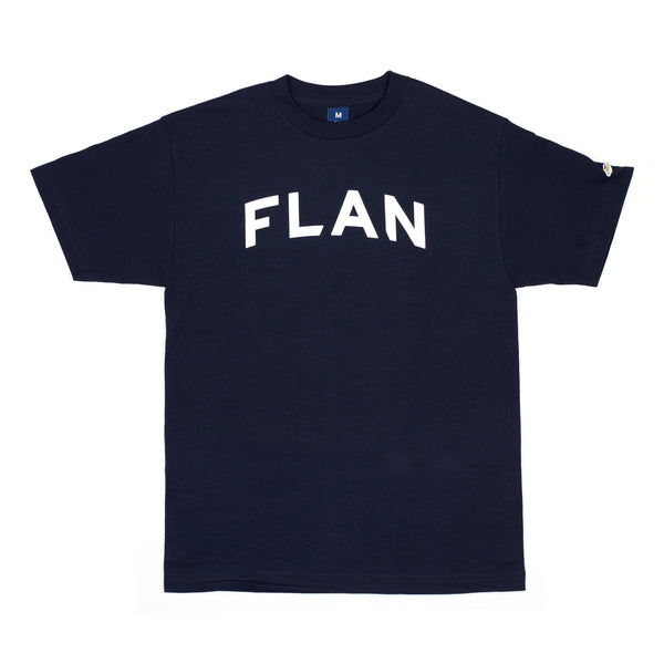 FLAN Wordmark T-Shirt - Navy