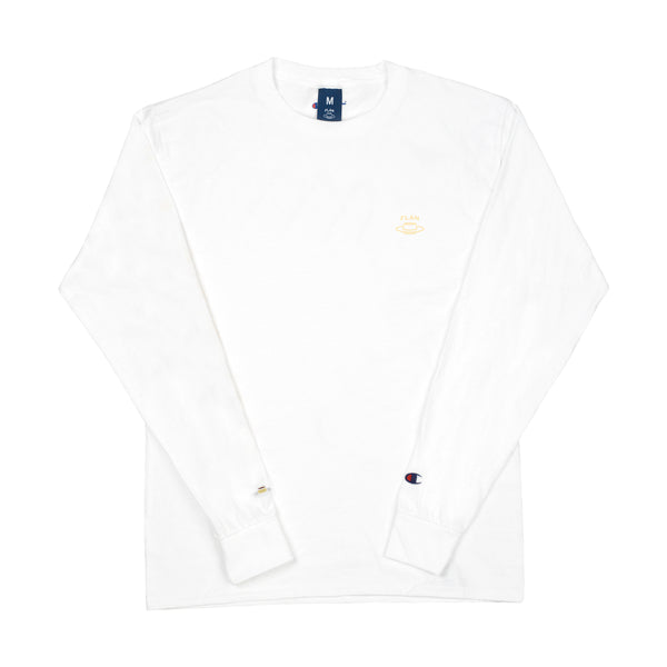 FLAN Champion Longsleeve T-Shirt - White