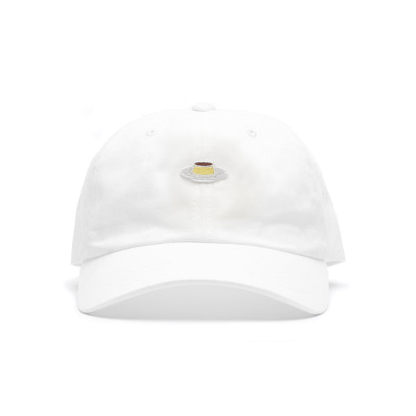 FLAN Patch Dad Hat - White