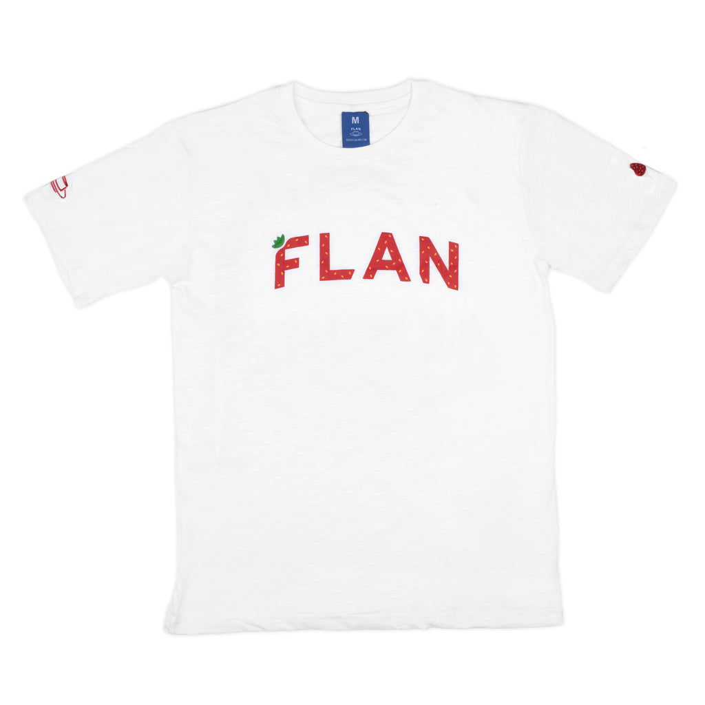 FLAN 'Strawberry' Wordmark T-Shirt