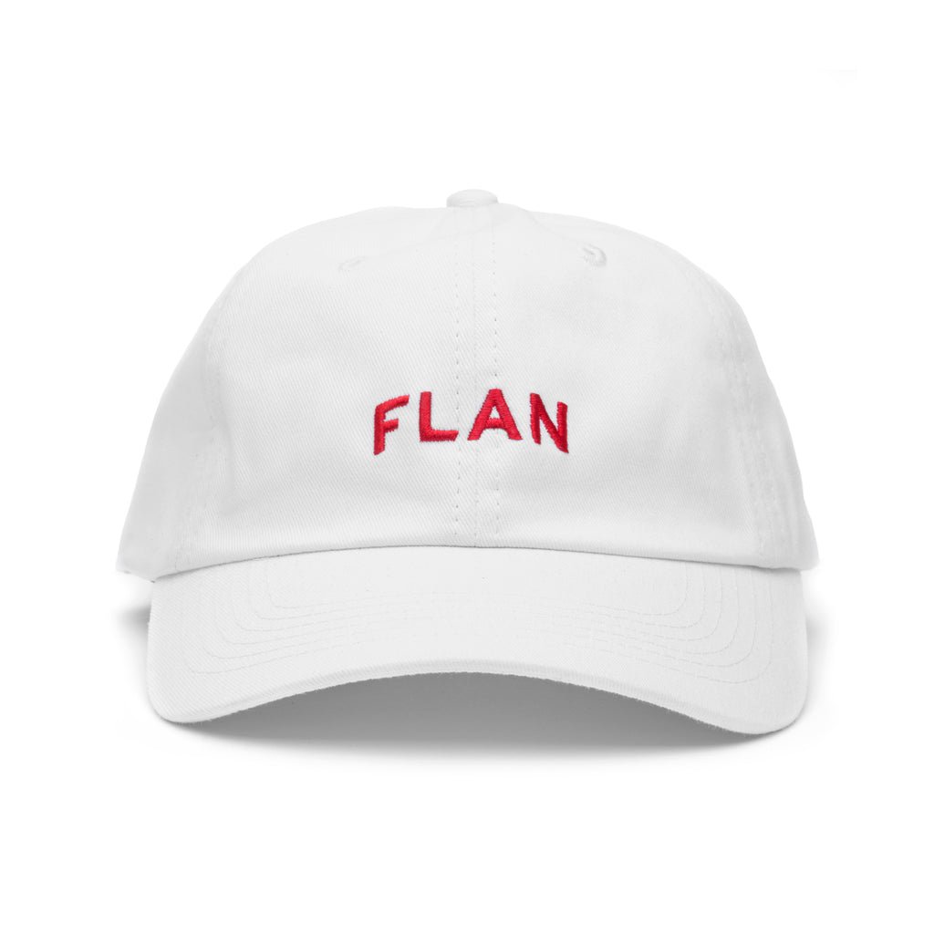 FLAN 'Strawberry' Dad Hat - White