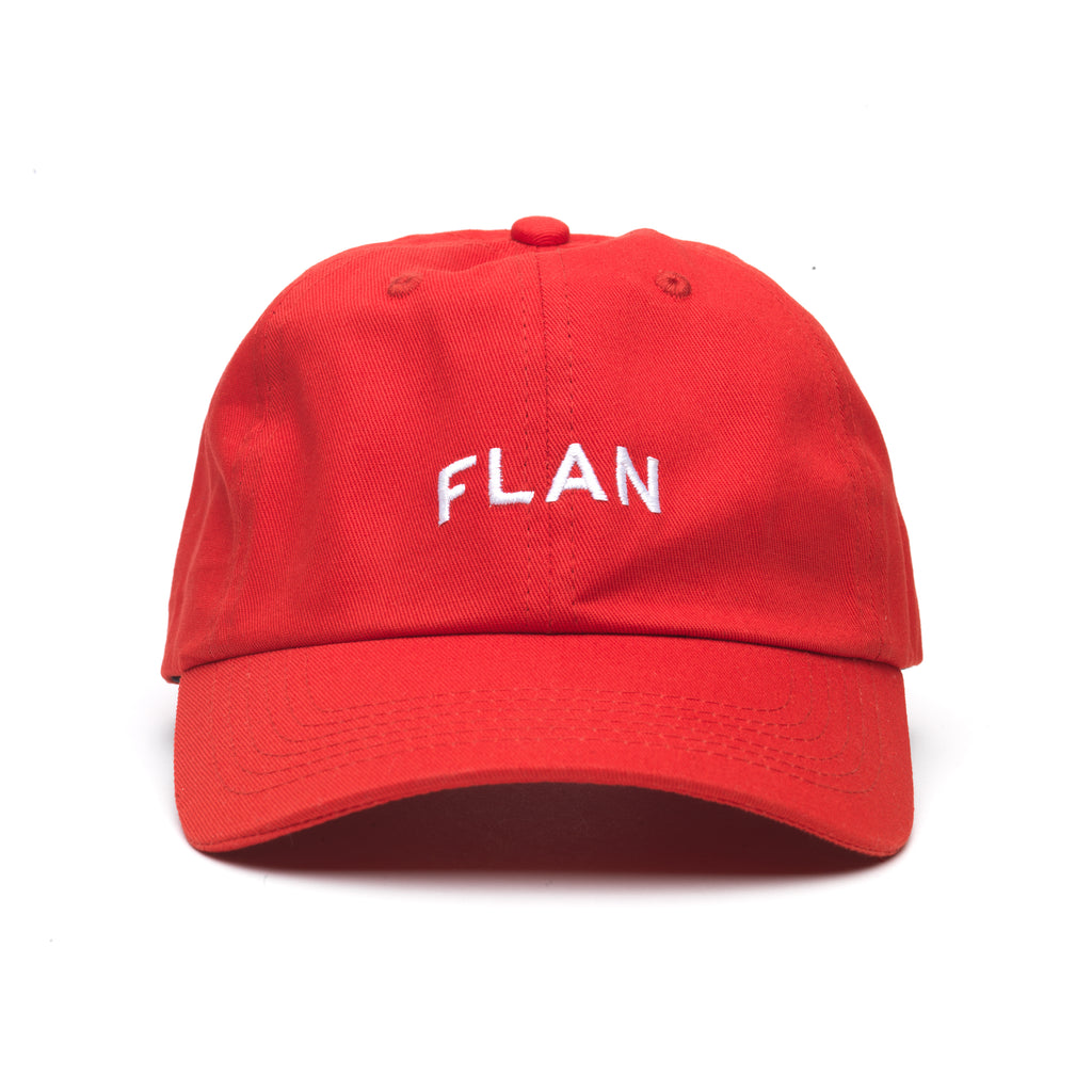FLAN 'Strawberry' Dad Hat - Red