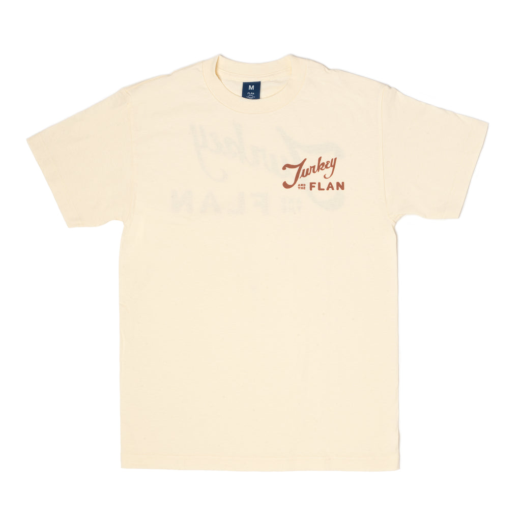 Turkey and the Wolf x FLAN - Logo T-Shirt - Cream