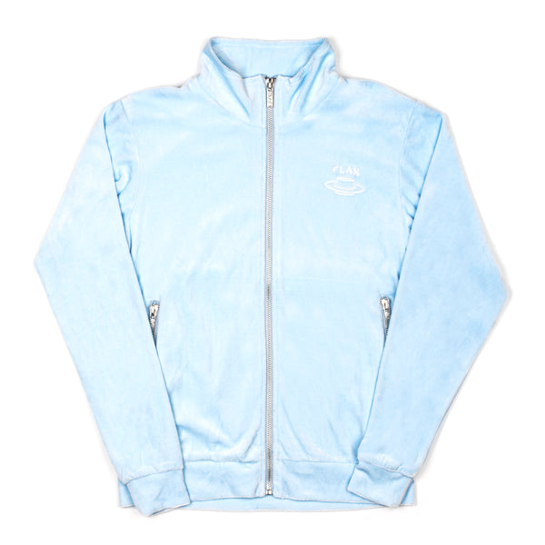 FLAN Velour Jacket - Baby Blue