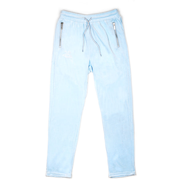 FLAN Velour Pants - Baby Blue