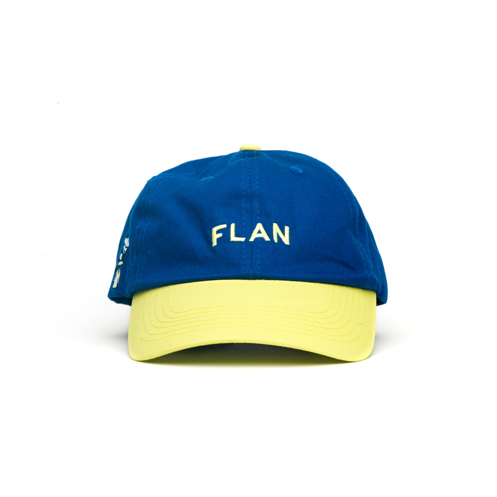 FLAN Wordmark Dad Hat - Blue