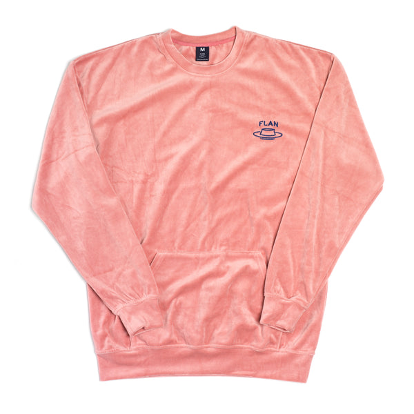 FLAN Velour Crewneck - Rose