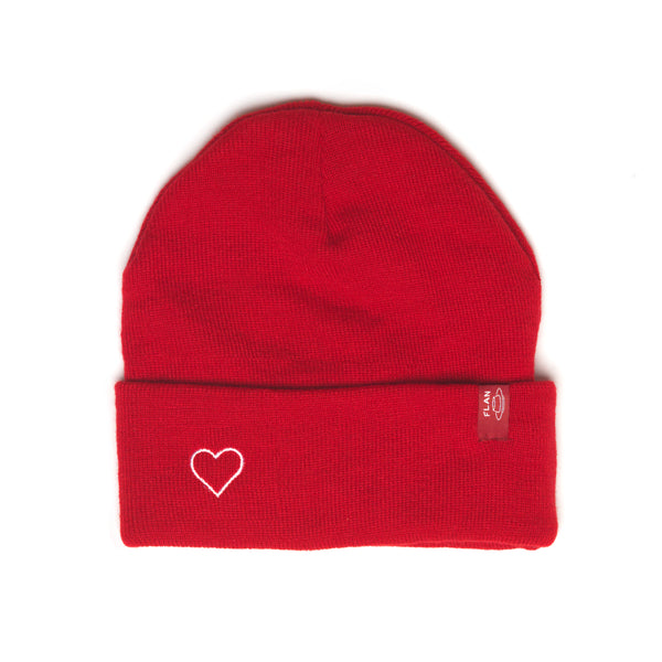 'Love' Beanie - Red