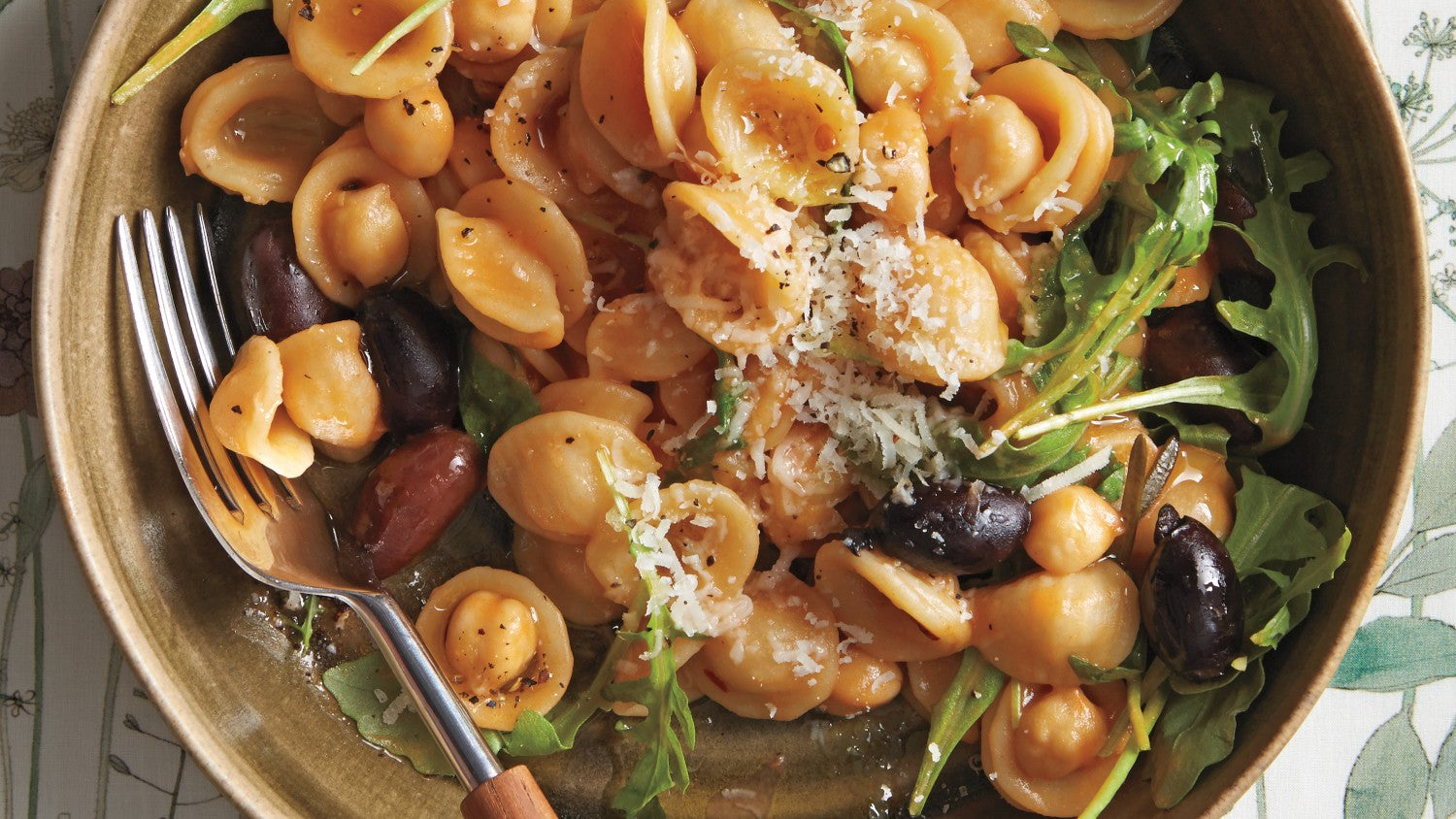 Orecchiete With Chickpeas and Olives