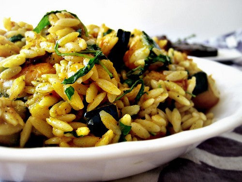 Warm Butternut Squash and Orzo Salad