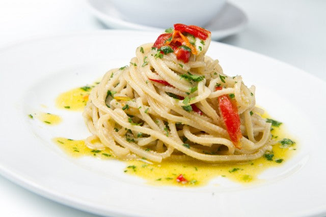 Aglio Oglio - Chili Garlic and Olive Oil Over Spaghetti
