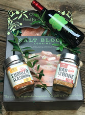 For the Grill Master: Salt and Seasonings for Dad Gift Box/Basket