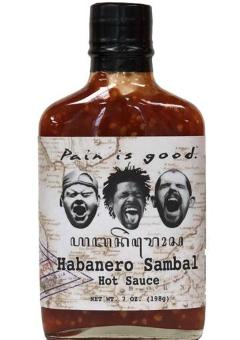 Pain is Good Hot Sauce Habanero Sambel