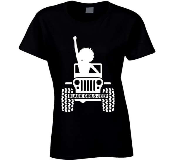 Black ( Black Girls Jeep Logo #1 ) T Shirt