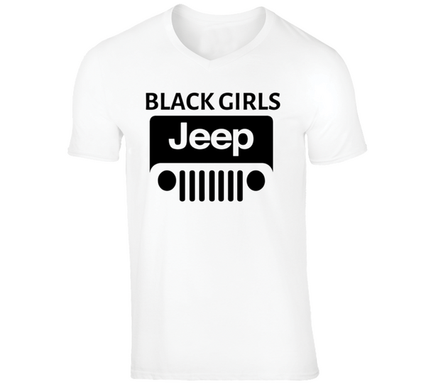 White ( Black Girls Jeep Logo #2 ) T Shirt