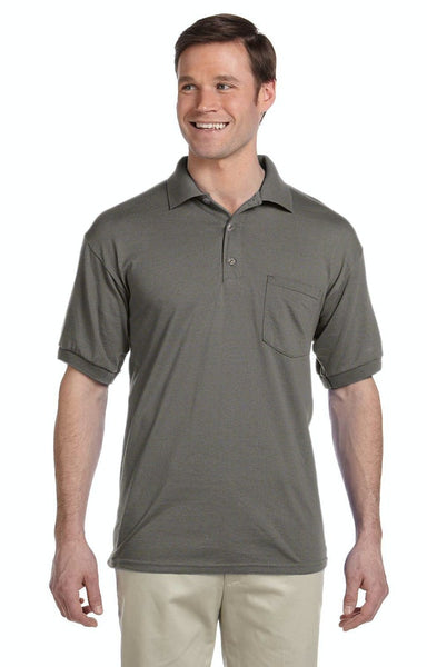 Adult Unisex 6 oz. 50/50 Jersey Polo with Pocket - Jack and Lu