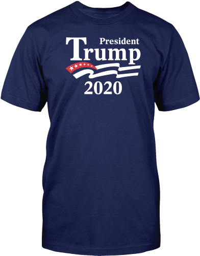 President Trum 2020 Flag Adult Unisex T-Shirt - Jack and Lu