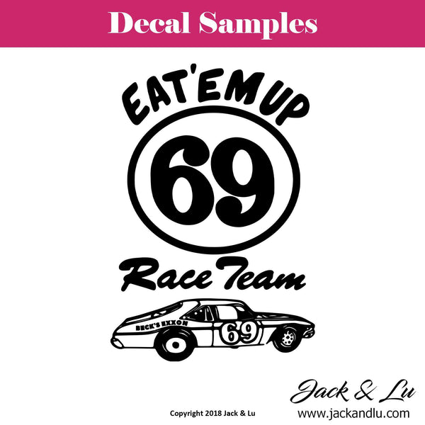 Eat'Em Up Race Team - Beck's Exxon Vinyl Adhesive Decal - Jack and Lu