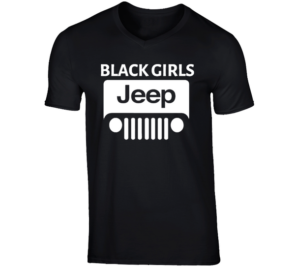 Black ( Black Girls Jeep Logo #2 ) T Shirt