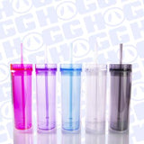 16oz Acrylic Tumbler with Straw - Jack and Lu