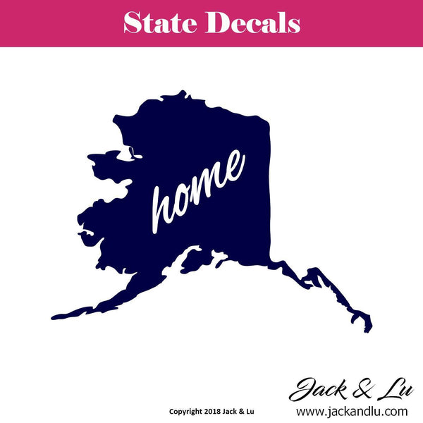 State Decal - (AK) Alaska Home State Decal - Jack and Lu