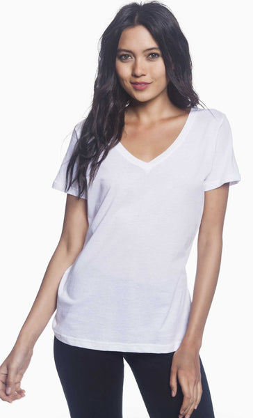 Ladies' Featherweight V-Neck T-Shirt - Jack and Lu