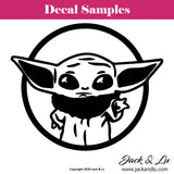 Baby Yoda - Star Wars - Vinyl Adhesive Decal - Jack and Lu