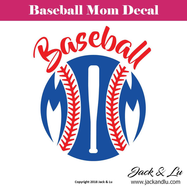 Baseball Mom Decal - Style No. 2 - Jack and Lu