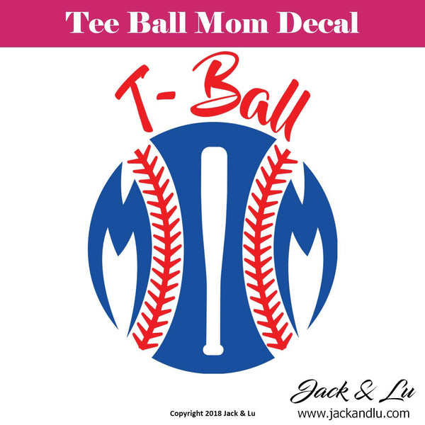 Tee Ball Mom Decal - Jack and Lu