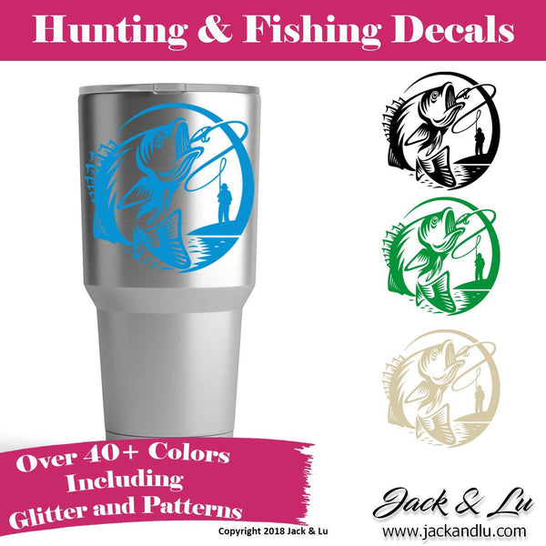 Bass Fishing Decal - Jack and Lu