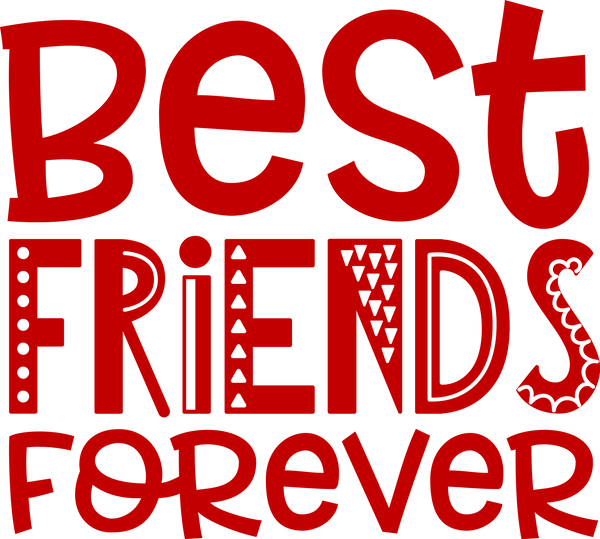 "Valentine's Day Decal - ""Best Friends Forever"" - Jack and Lu"