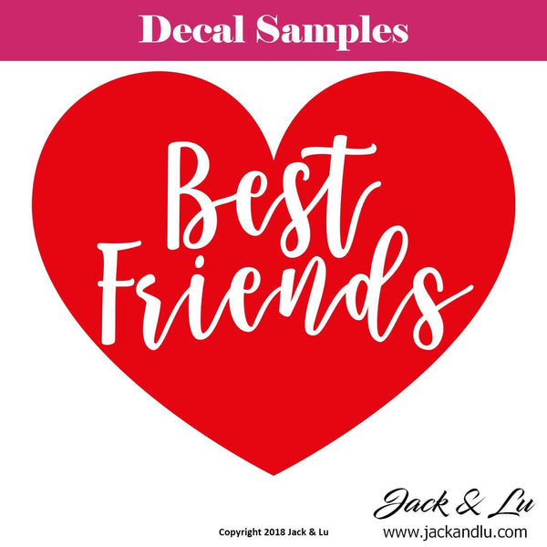 "Valentine's Day Decal - ""Best Friends"" - Jack and Lu"