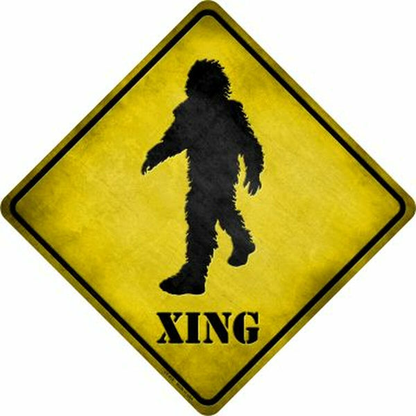Bigfoot Xing Metal Novelty Crossing Sign - Jack and Lu