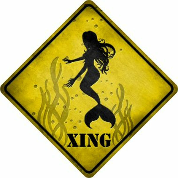Mermaids Xing Metal Novelty Crossing Sign - Jack and Lu