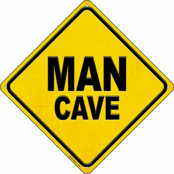 Man Cave Metal Novelty Crossing Sign