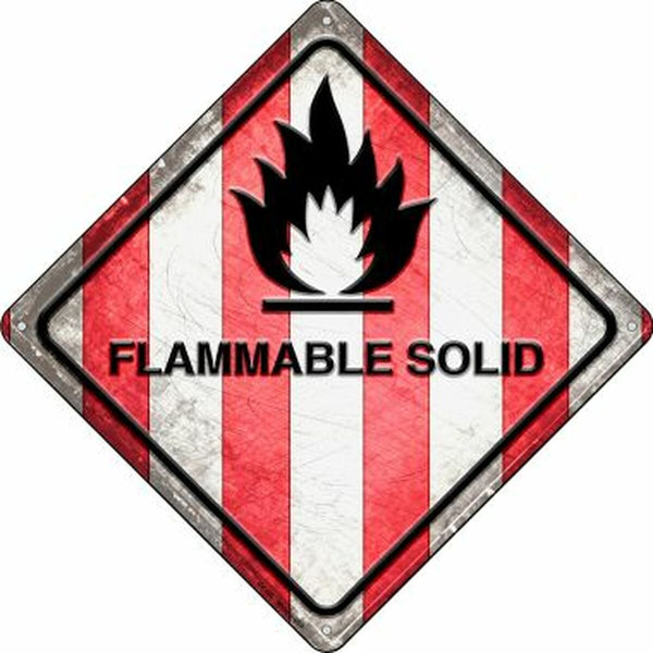 Flammable Solid Xing Metal Novelty Crossing Sign