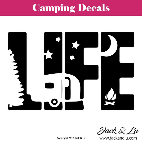 Camping Life Decal - Jack and Lu