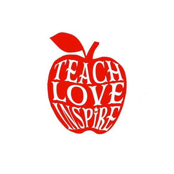 Teach, Love, Inspire Apple Decal - Jack and Lu