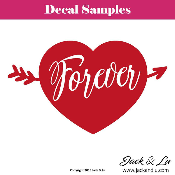 "Valentine's Day Decal - ""Forever"" - Jack and Lu"