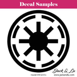 Galactic Republic Logo Crest - Star Wars - Vinyl Adhesive Decal - Jack and Lu