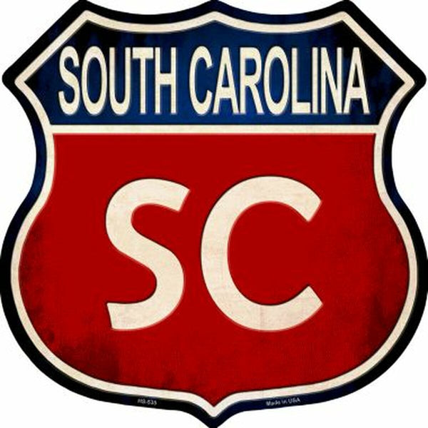 South Carolina State Flag Highway Shield Metal Sign #2 - Jack and Lu