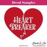 "Valentine's Day Decal - ""Heart Breaker"" - Jack and Lu"